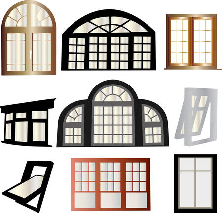 interior drawing: windows collection