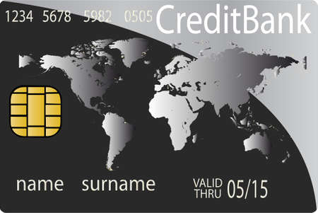 bank robber: Colorful collection of credit cards. Highly detailed