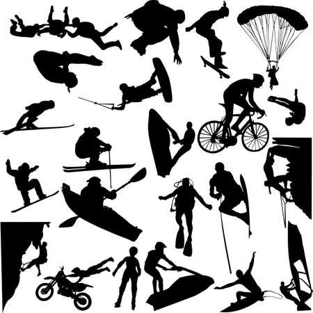 parapente: deporte extremo  Vectores