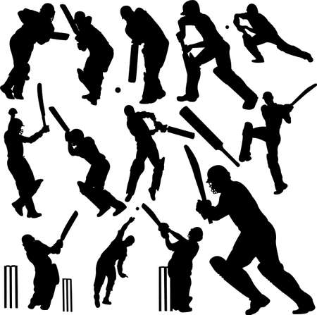 cricket players collection  Vector