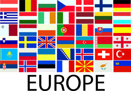 collection of european flags  Stock Vector - 6611178