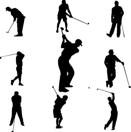 golfer: golf players  Illustration