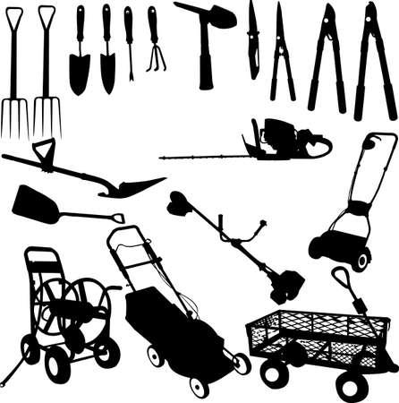 schubkarre: Garten-Tools-set Illustration