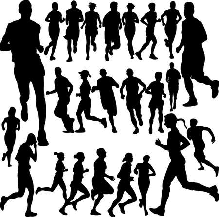 running people collection