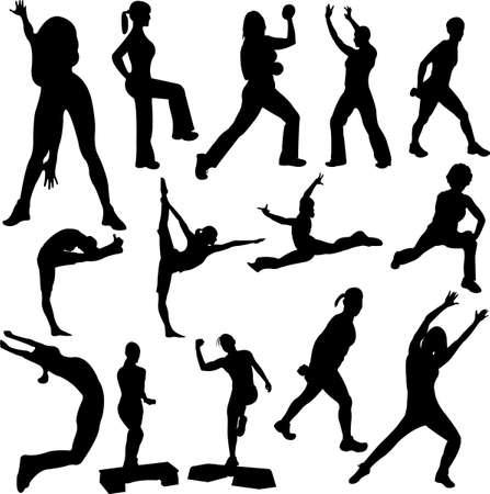 aerobics girl Stock Vector - 7841379