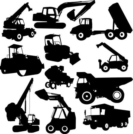 collection of construction machine  Vector