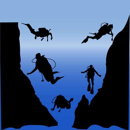 scuba diving Stock Vector - 7958345
