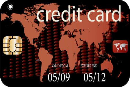 security lights: credit card Illustration