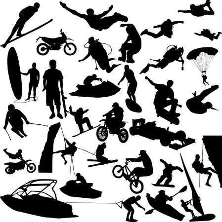 parapente: deportes extremos 2 - vectoriales  Vectores