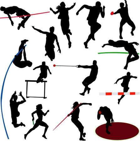 staffel: sportlich Auflistung - Vektor