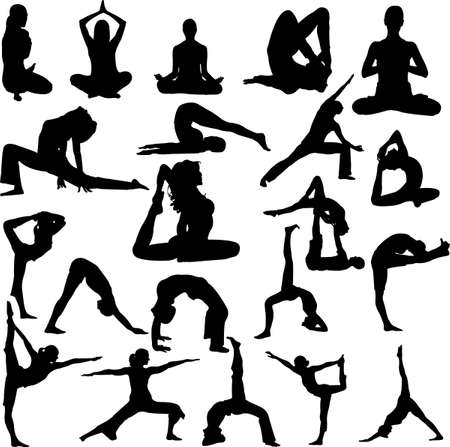 women yoga: yoga vector
