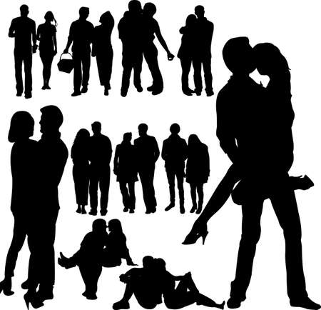 couple people vector Illustration