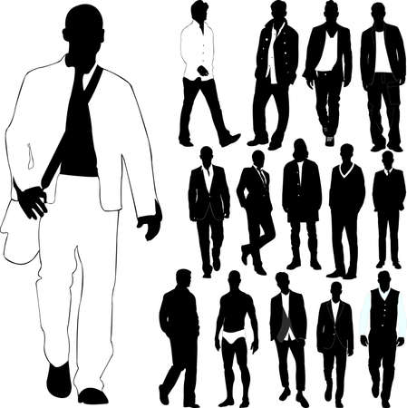 uomini di moda (vestiti dettaglio)
