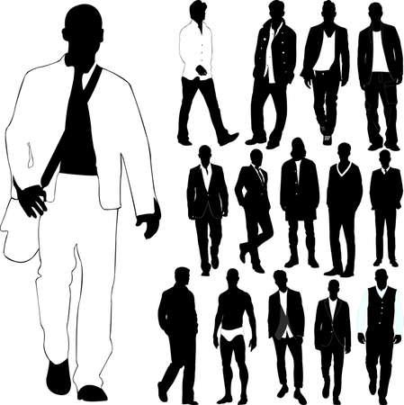 fashion men (clothes detail)  Illustration