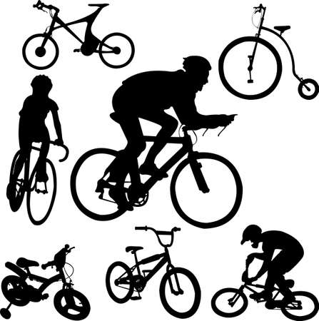 bicycle silhouette: bicycle vector Illustration