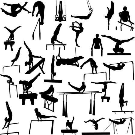 the acrobatics: colecci�n de Gimnasia - vector