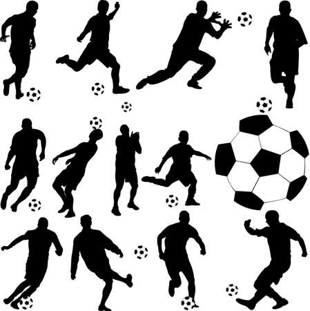 goal kick: soccer player vector