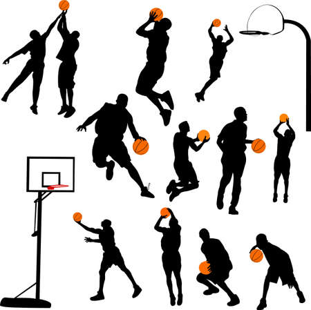 hoops: basketball and backboard
