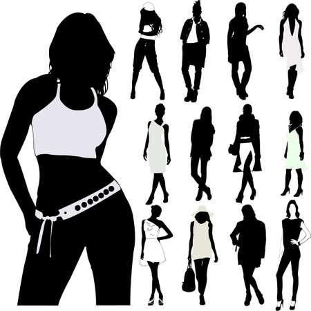 Fashion vrouwen vector Stock Illustratie