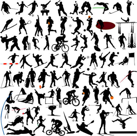 surf silhouettes: Sport collection vector Illustration