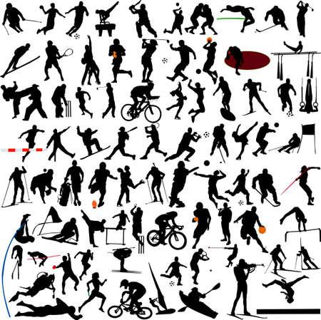 atleta corriendo: Vector de colecci�n de deporte