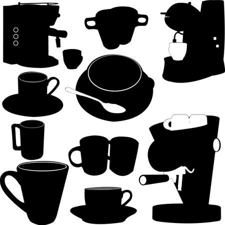 coffe garniture  Vector