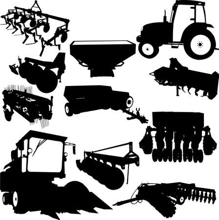 Agricultural Machinery collection  Vector
