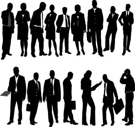 business people collection - vector Stock Vector - 8883589