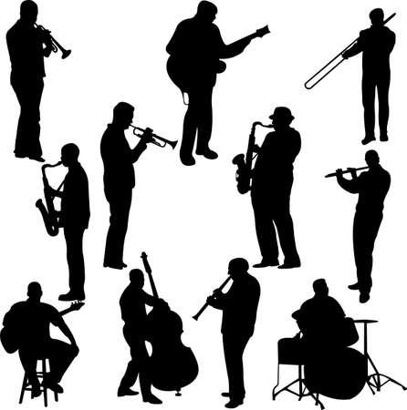 flet: Kolekcja muzyków - wektor Ilustracja