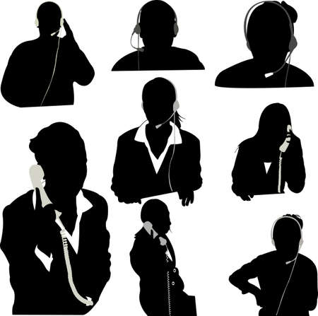 Secretaresse en call center operator vector