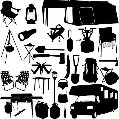 camping equipment  Illustration