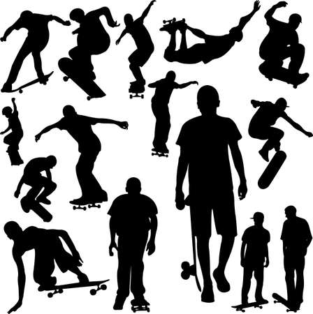 skateboard boy: skateboarding collection Illustration