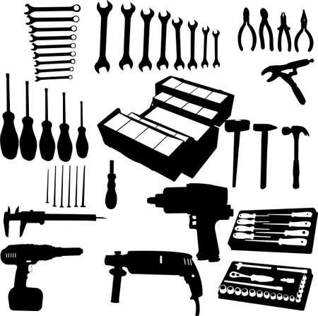 finisher: tools set Illustration