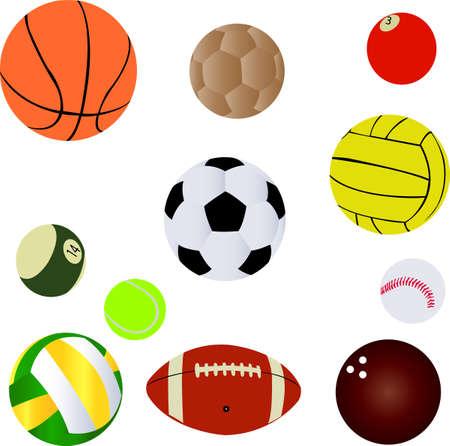 Balls collection Vector