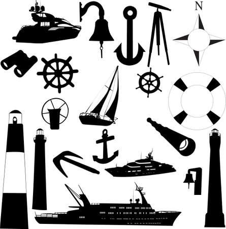 sailing equipments - vector