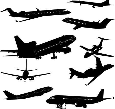 airplane vector Vector