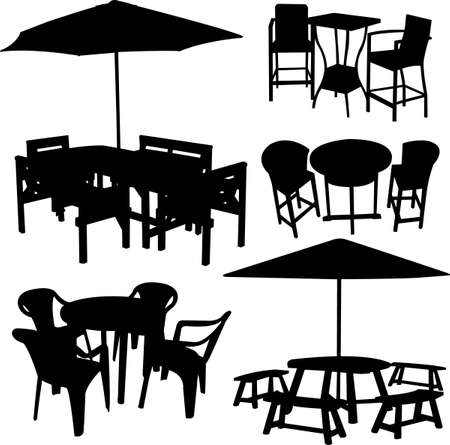 lounge bar: Garden furniture - vector
