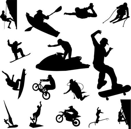pastime: extreme sport - vector