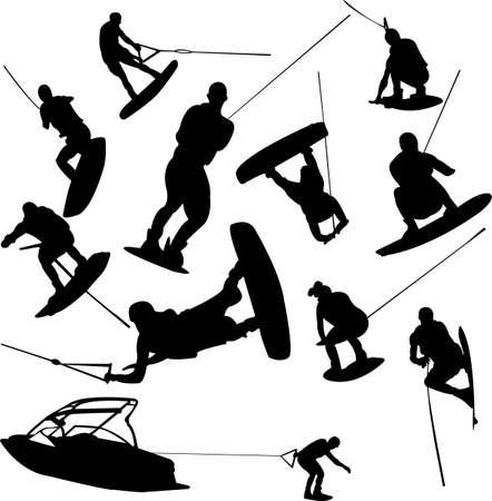 v�locit�: collecte de ski nautique - vecteur