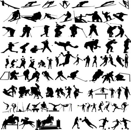 sport big collection - vector Stock Vector - 12494636