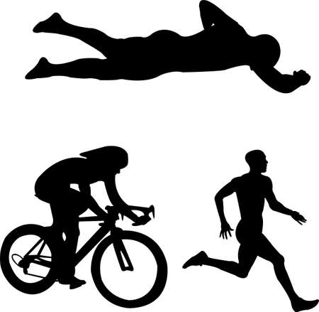 crawl: triathlon - vector Illustration