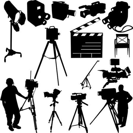 film set: film collection - vector