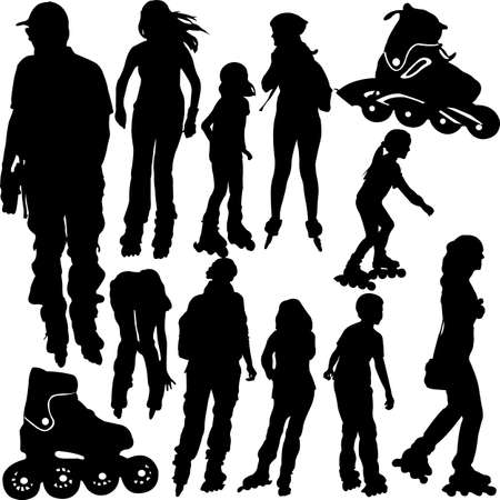 roller blade: rollerblade silhouettes -