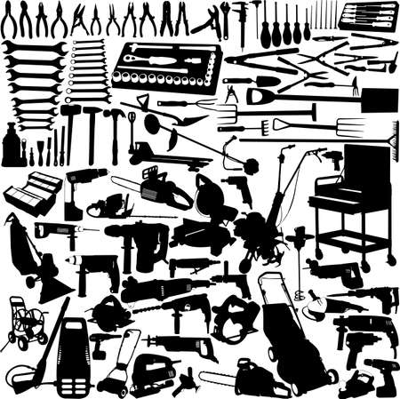 tools big collection  Vector