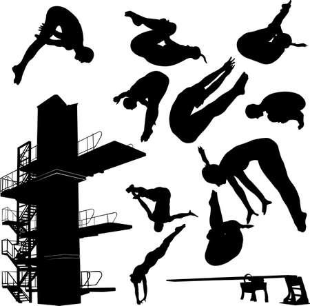 diving collection 1 - vector Иллюстрация