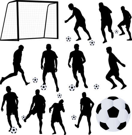 soccer player collection 1 - vector Stock Vector - 23284930