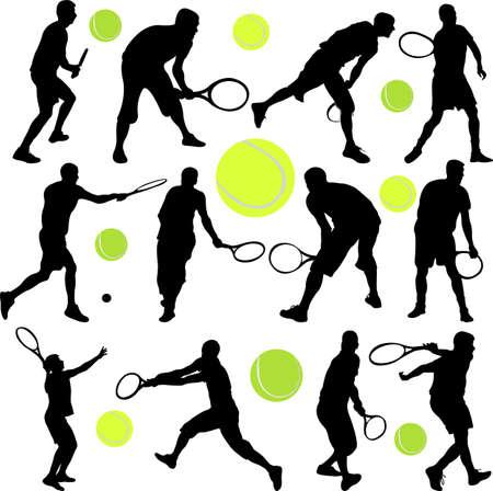 gagnants: collection de joueur de tennis Illustration