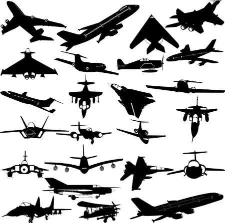 jet fighter: airplanes,military airplanes collection - vector