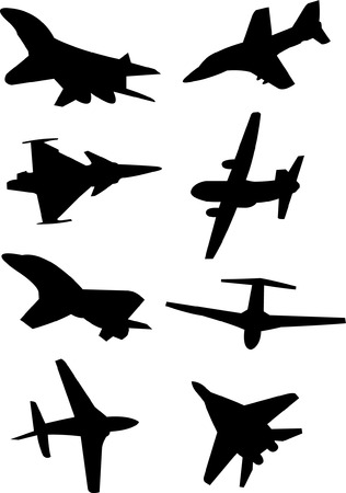 airplain: airplanes collection - vector