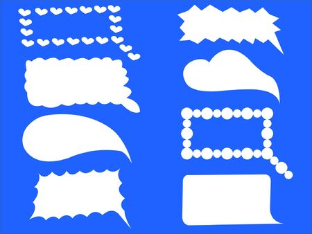 illustrates: cloud chat icons - vector